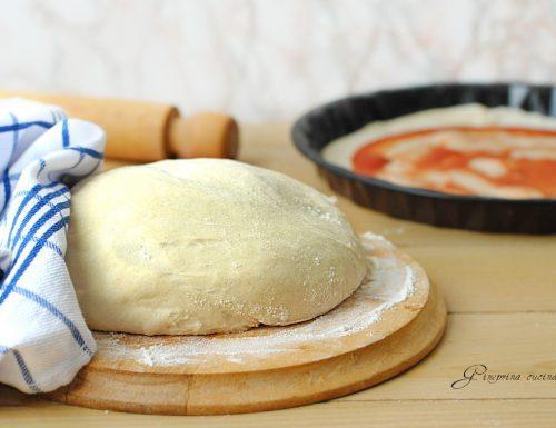 impasto per pizza con starter al kefir