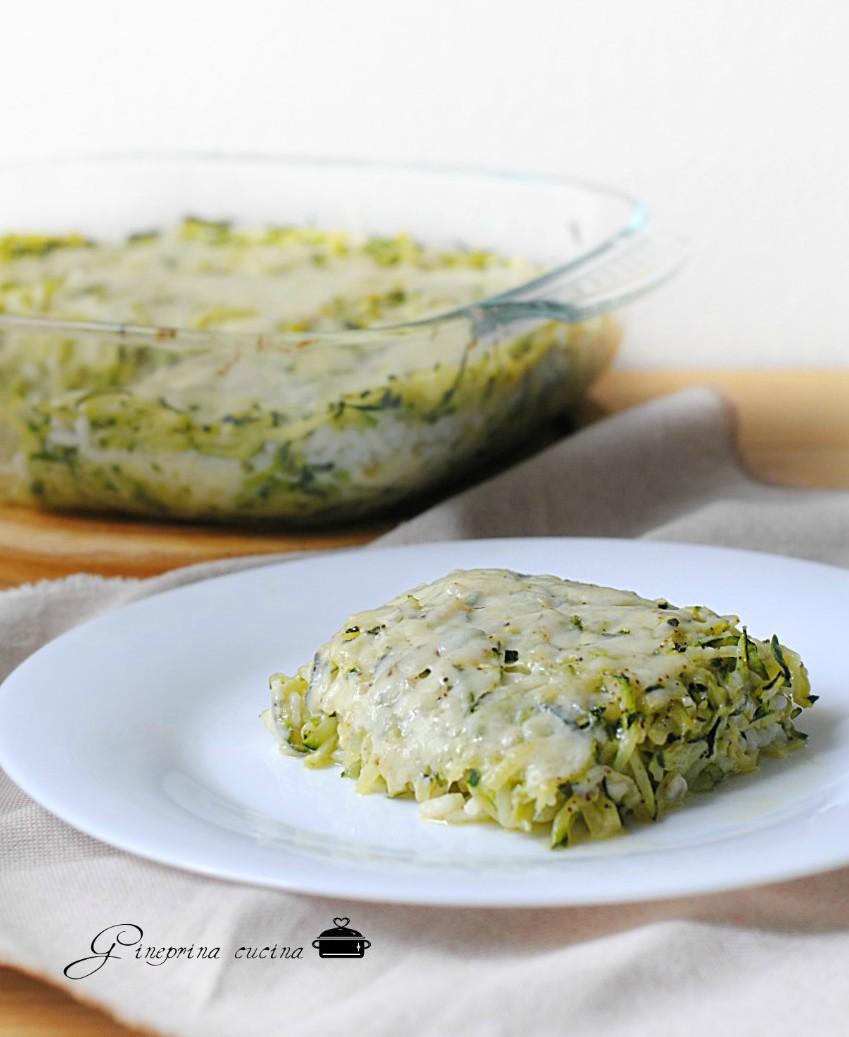 pasticcio di zucchine patate e riso