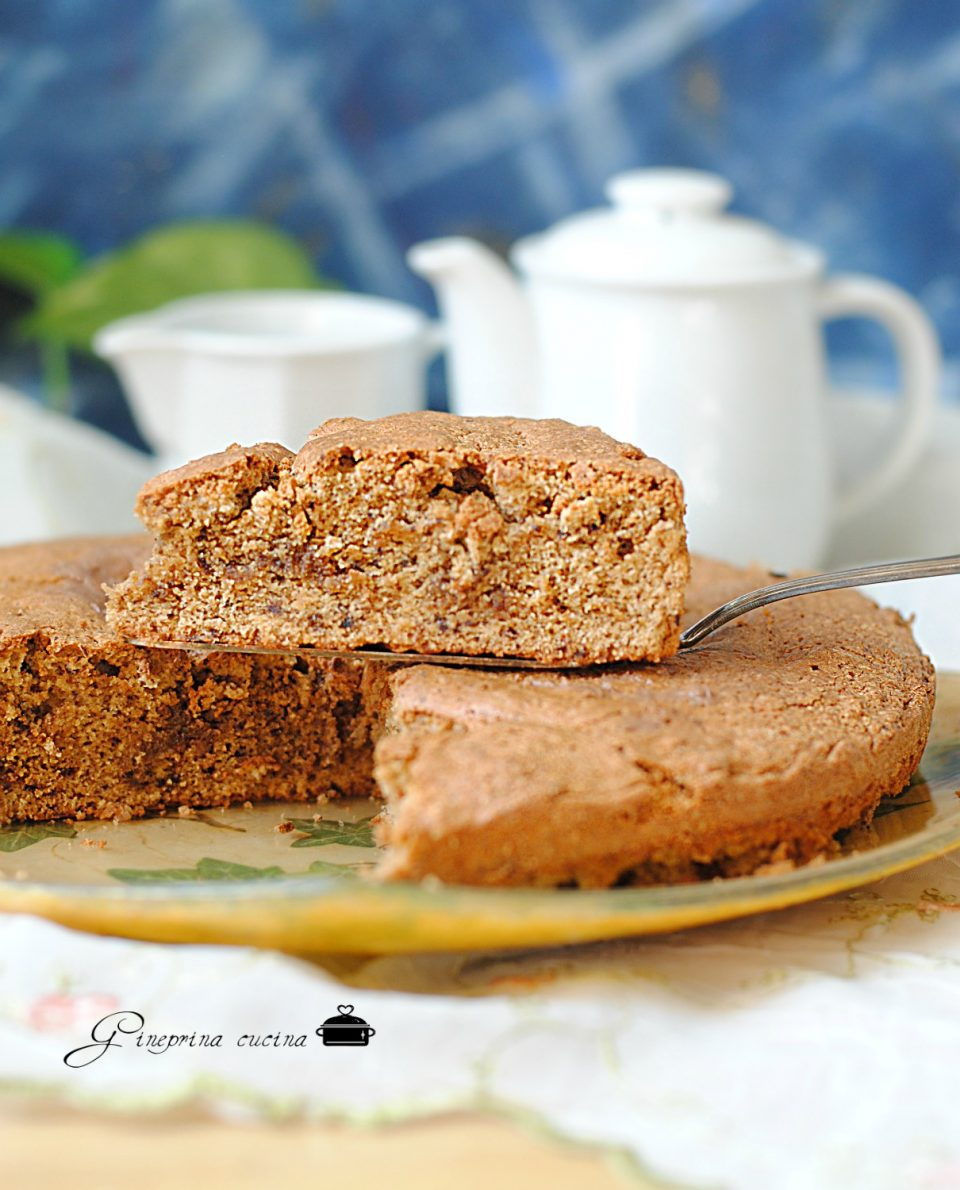 torta agli amaretti e cioccolato
