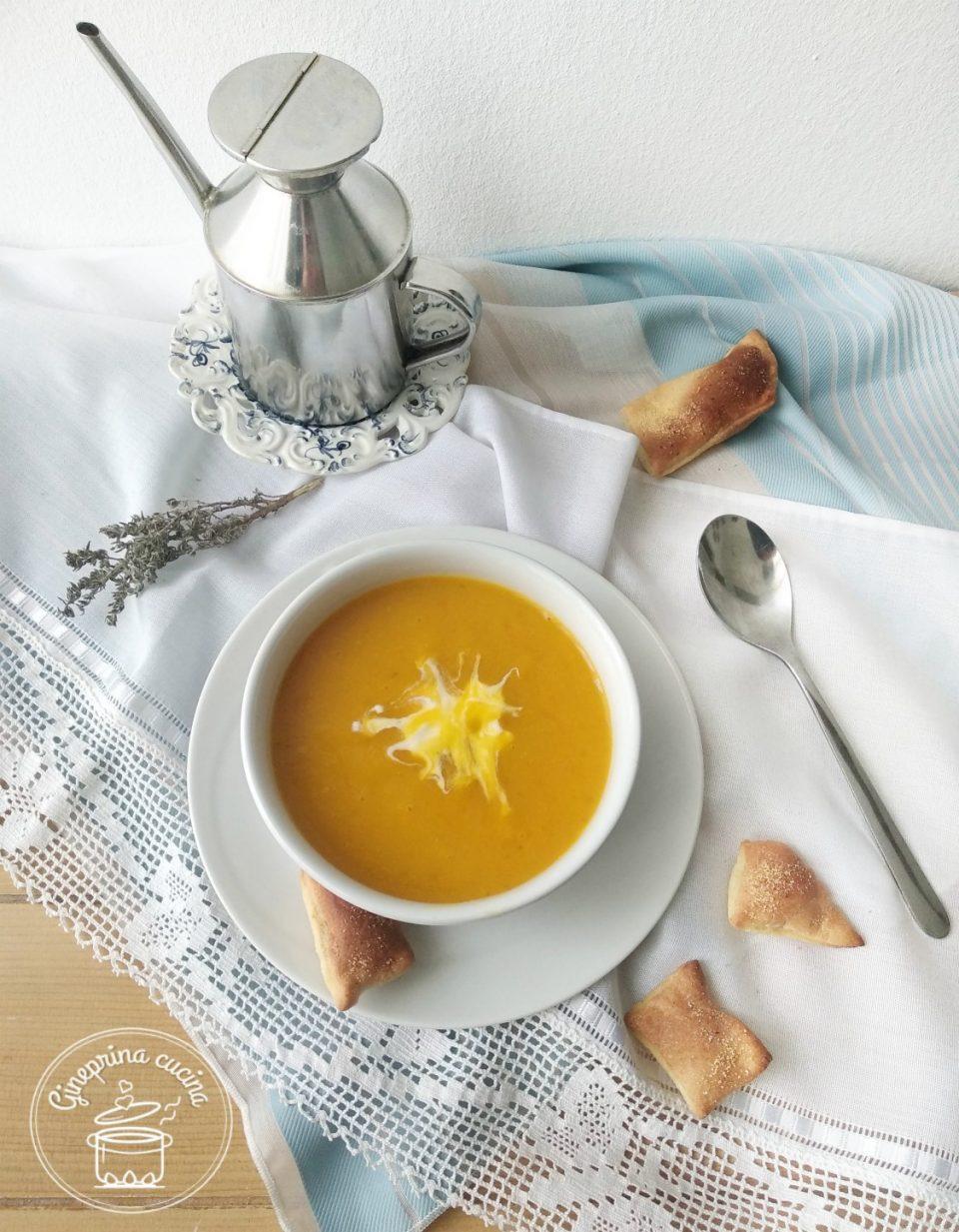 Ricetta Zuppa Zucca Patate E Porri.Vellutata Di Porri Patate E Zucca Gineprina Cucina