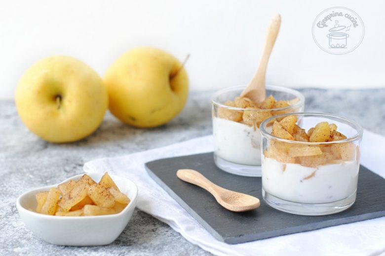 dessert allo yogurt e mele cotte light