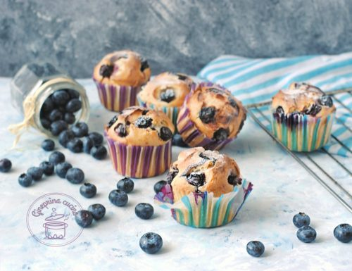 muffin ai mirtilli con yogurt