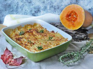 lasagne con zucca e salsiccia