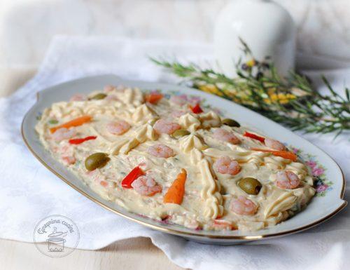 insalata russa con gamberetti