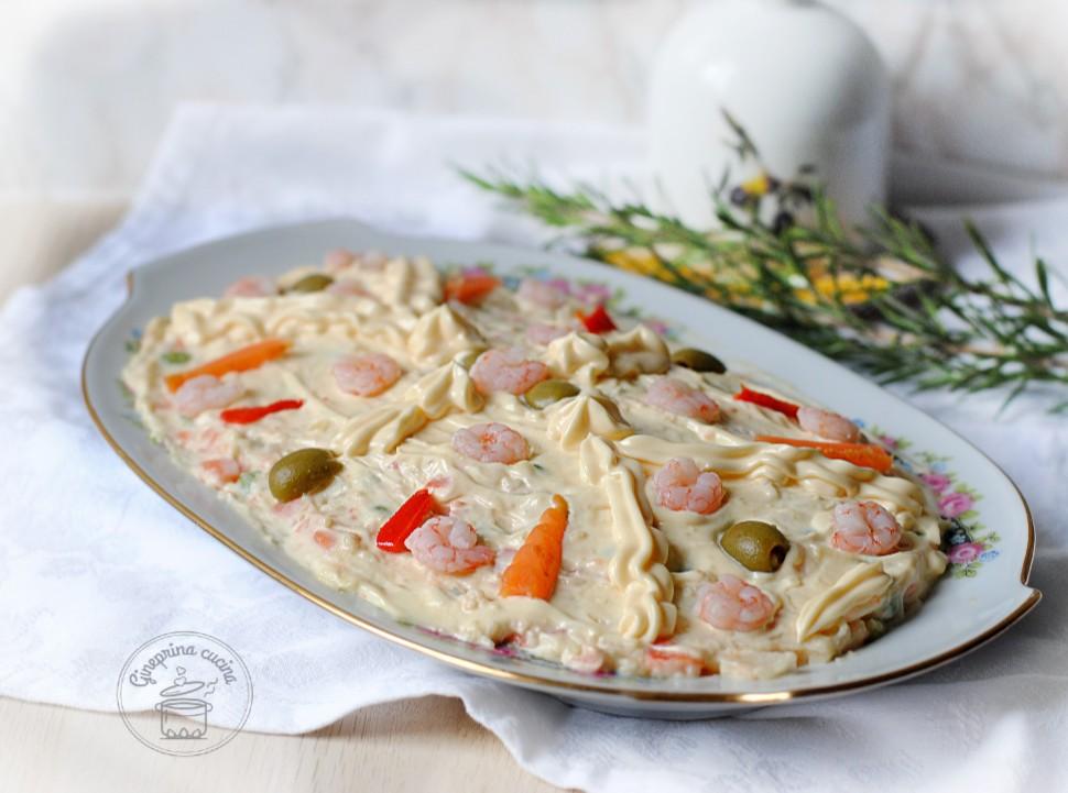 Decorazioni Natalizie Per Insalata Russa.Insalata Russa Con Gamberetti Gineprina Cucina