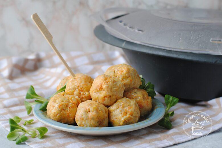 polpettine di tacchino e carote al vapore (ricetta bimby)