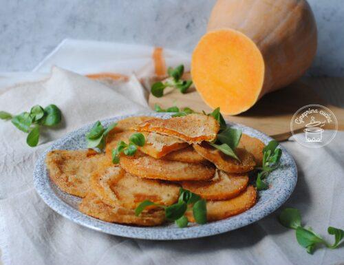 zucca impanata fritta o al forno
