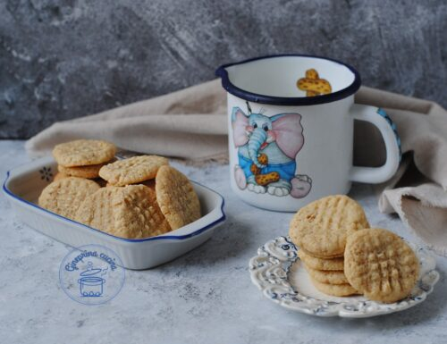 biscotti al burro di arachidi – peanut butter cookie