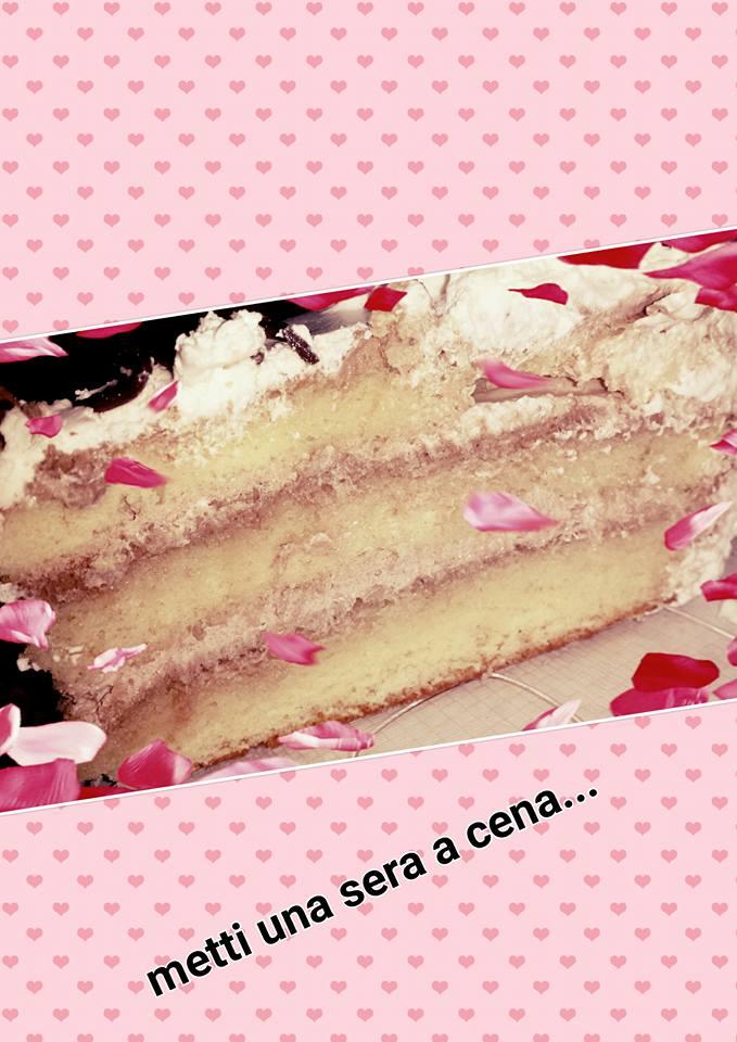 torta di compleanno /ganache al cioccolato fondente e panna
