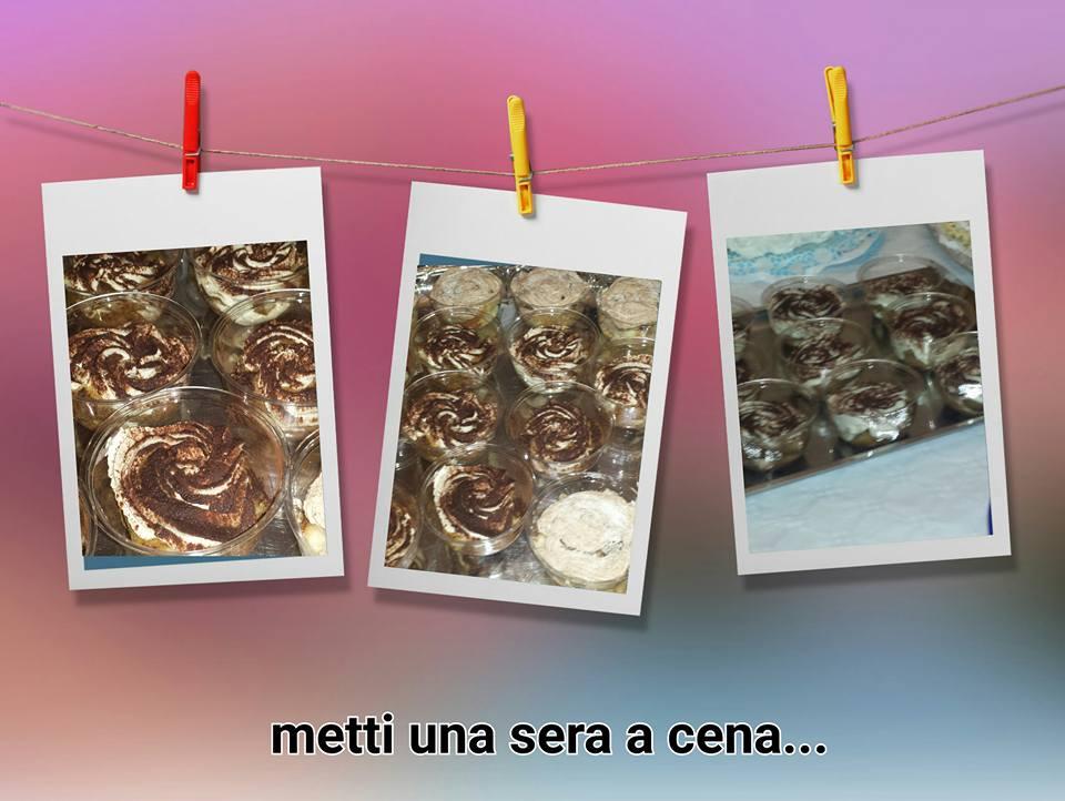 dolci coppette monoporzione /tiramisù-ricotta e nutella