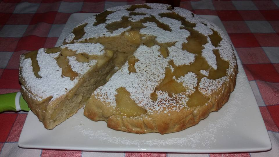 torta di mele profumata alla cannella e rum