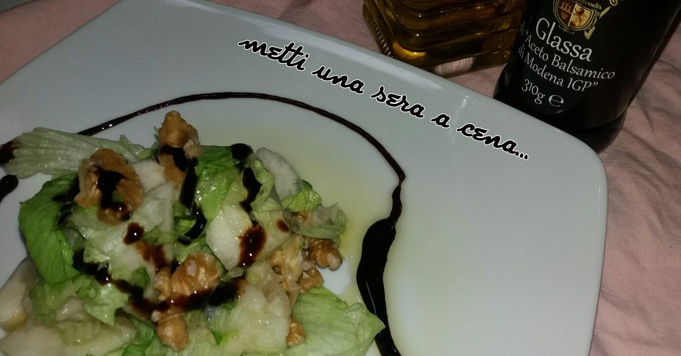 insalata con pere e noci