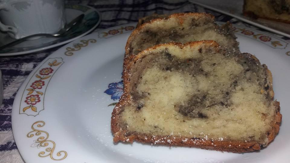 plum cake con marmellata di mirtilli neri
