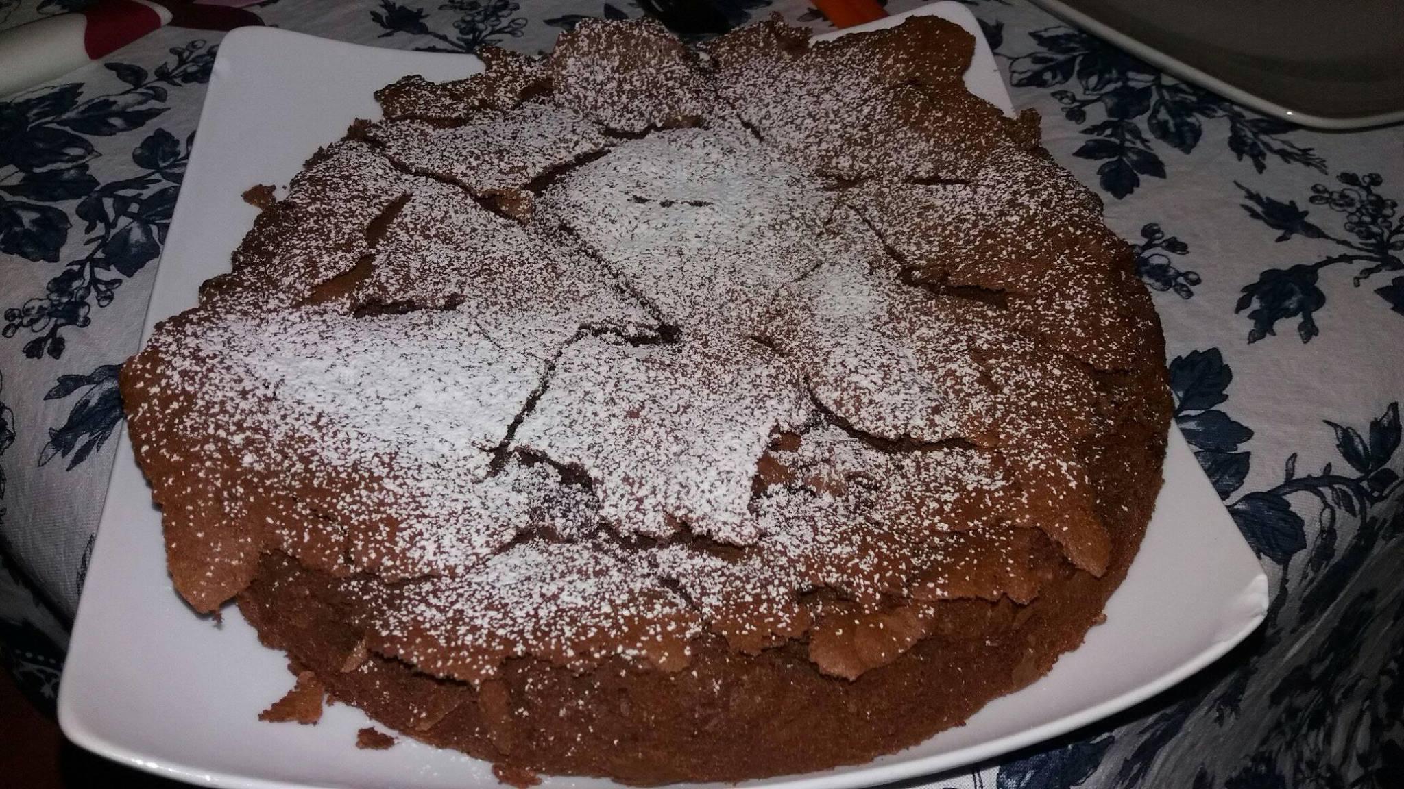 torta senza lievito al cioccolato fondente