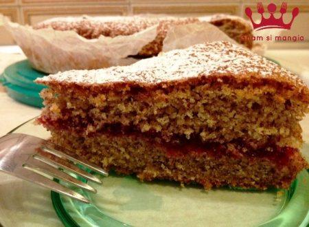 Torta di grano saraceno con marmellata di mirtilli rossi
