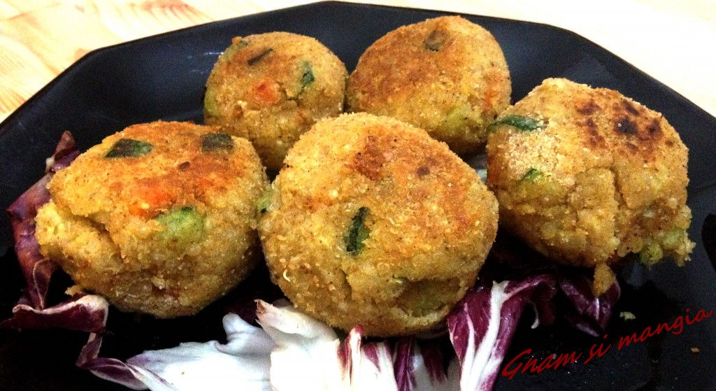 Polpette vegetariane di quinoa e verdure gnam si mangia for Cucinare x celiaci