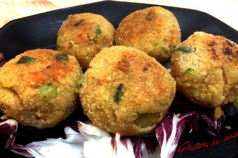 Polpette vegetariane di quinoa e verdure