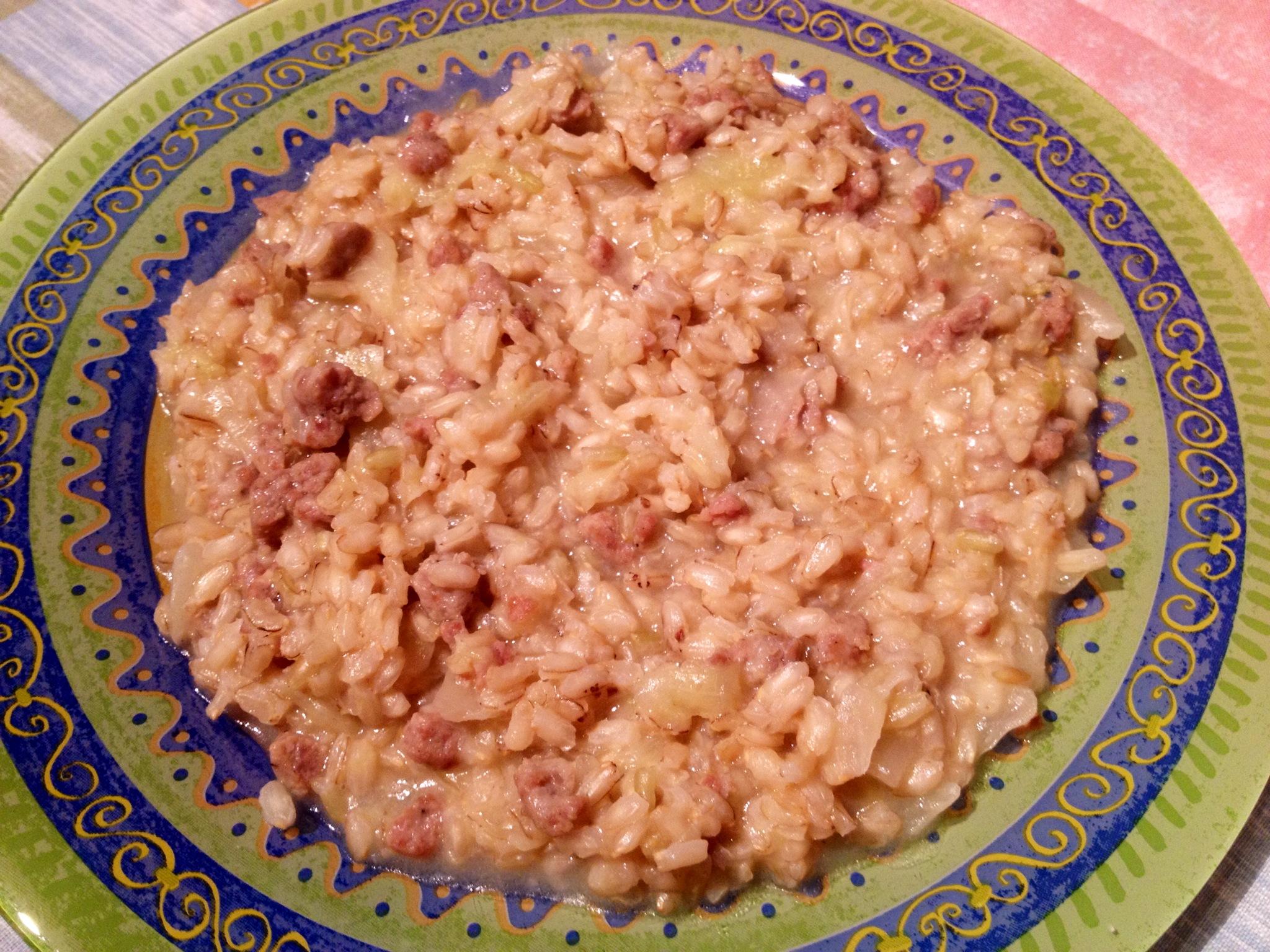 Famoso Riso integrale con verza e salsiccia | Gnam si mangia GI13