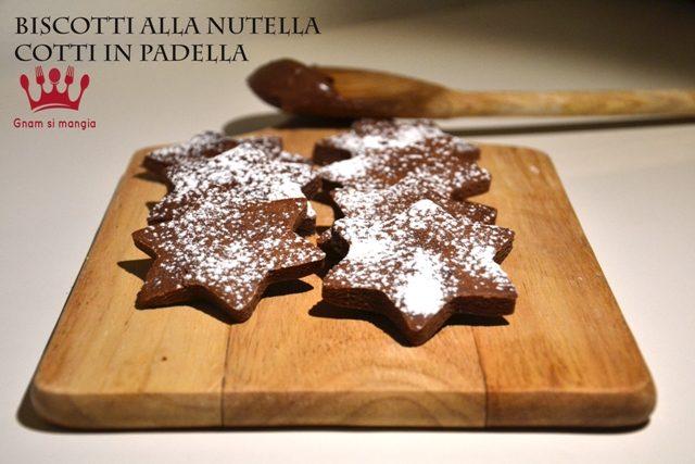 Biscotti alla nutella cotti in padella