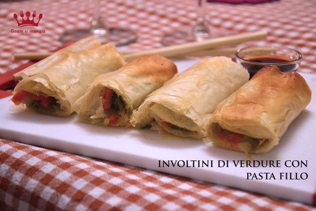 Involtini di verdure con pasta fillo