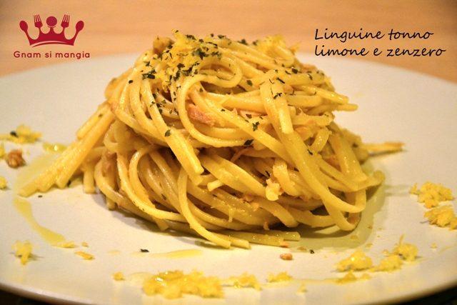 Linguine tonno limone e zenzero