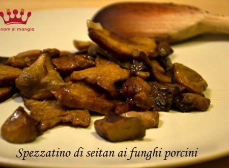 Spezzatino di seitan ai funghi porcini