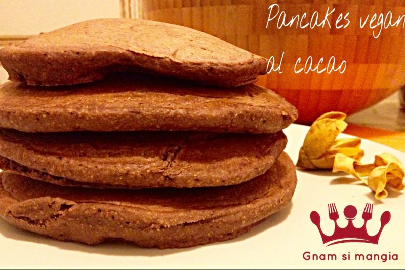 Pancakes vegani al cacao