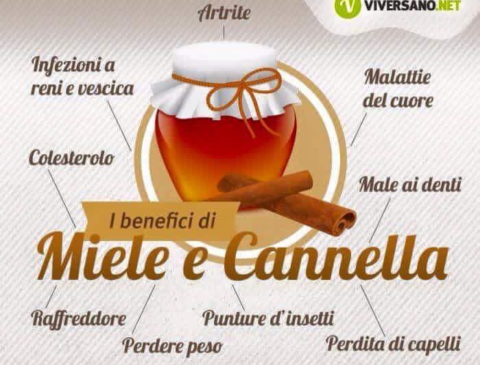 Benefici di miele e cannella