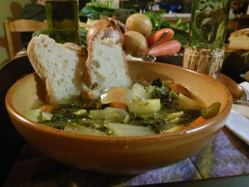 Zuppa di verdure (pentola a pressione) – Vegetables soup (pressure cooker)