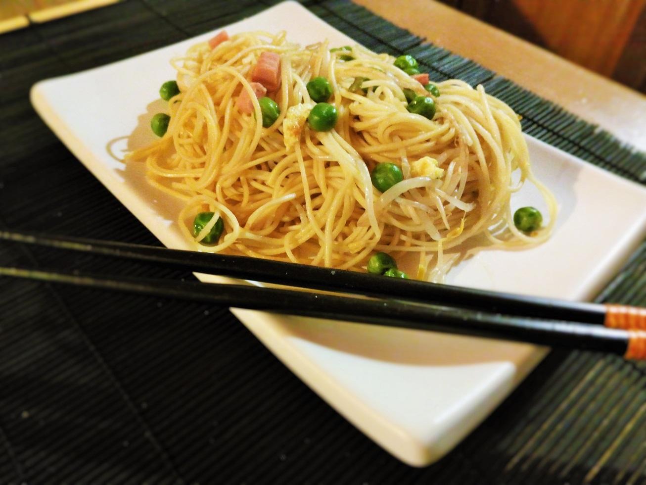 Spaghetti alla Cantonese