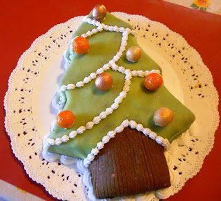 Albero di Natale di marzapane