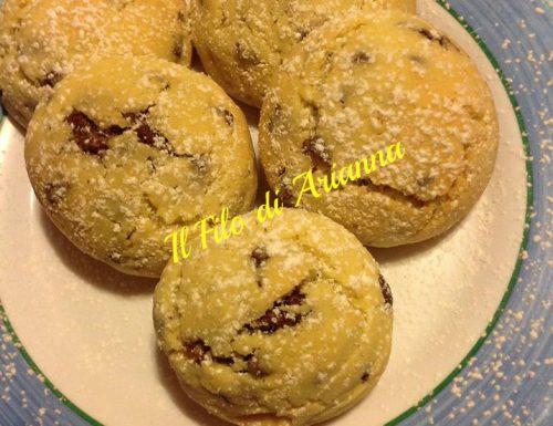 Cookies biscotti americani con gocce di cioccolato