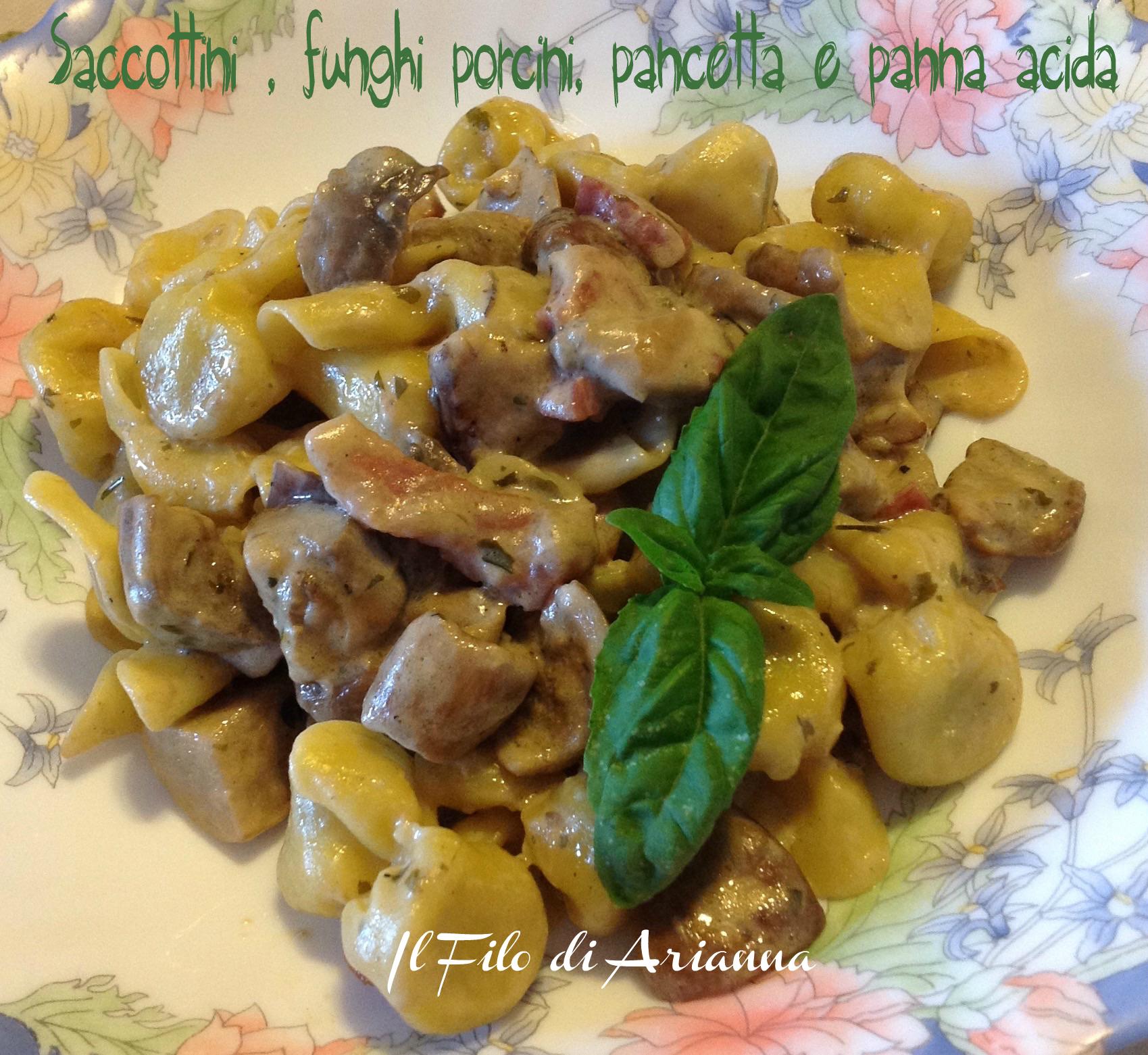 Saccottini funghi porcini pancetta e panna