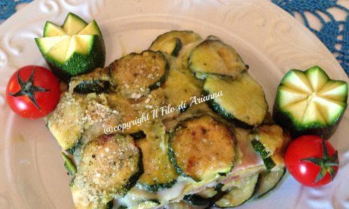 Parmigiana di zucchine a rotelle fritte