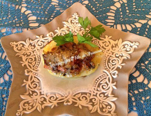 Patate bauletto con funghi porcini