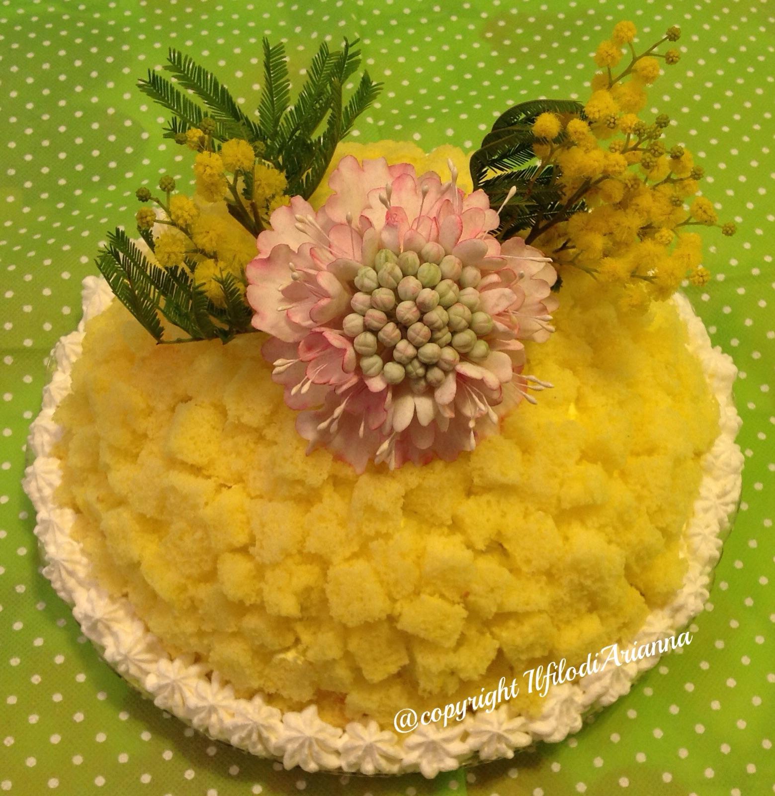 Torta mimosa per l'8 marzo festa della donna