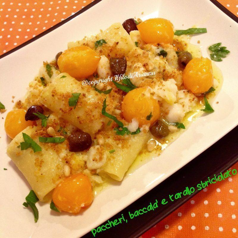 Paccheri con baccalà e tarallo sbriciolato