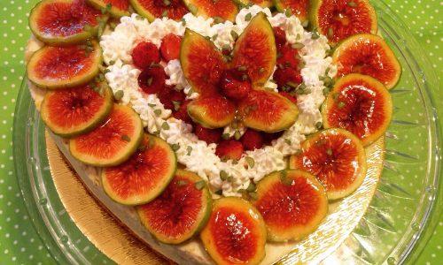 Cheesecake fichi, mandorle e pistacchi