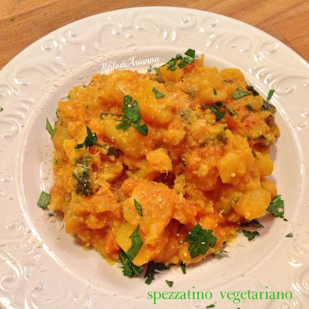 Spezzatino vegetariano con zenzero e curcuma