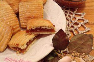 Biscotti farciti con confettura di fichi