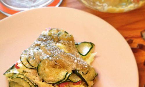 Parmigiana di zucchine in bianco con la vasocottura