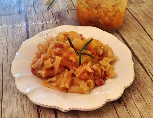 Pasta e patate con provola in vasocottura