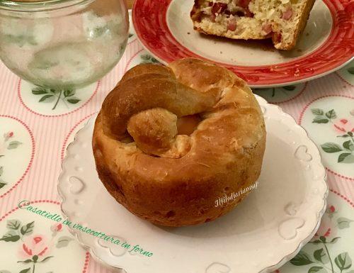 Casatiello o tortano in vasocottura in forno