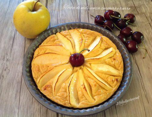 Torta di mele senza zucchero e burro