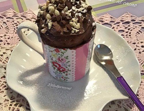 Mug cake al cacao cioccolattosa
