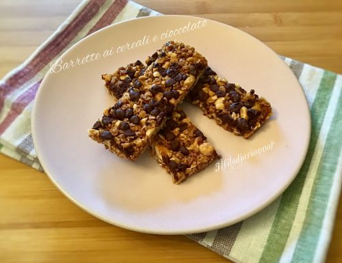 Barrette energetiche ai cereali  e cioccolato