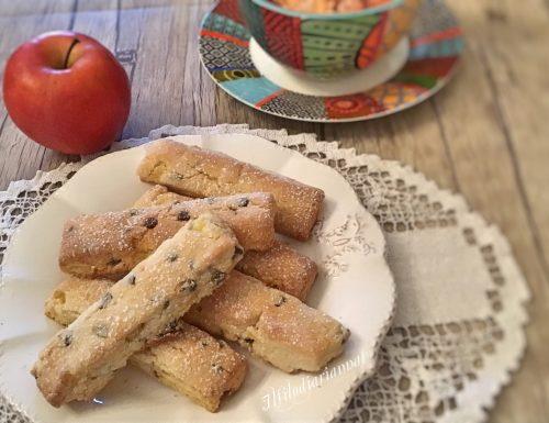 Biscotti mele e cioccolato senza stampo
