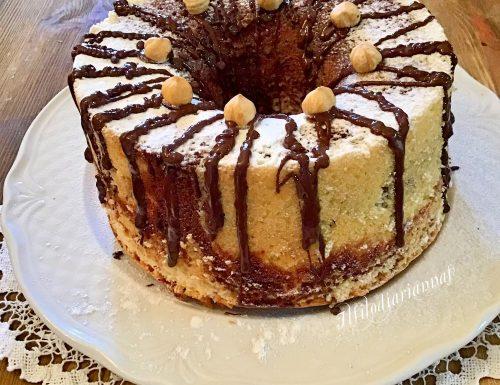 Chiffon cake variegata al cacao