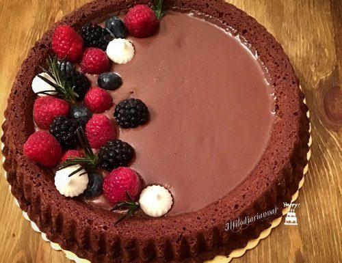 Torta lindt con cioccolato al latte