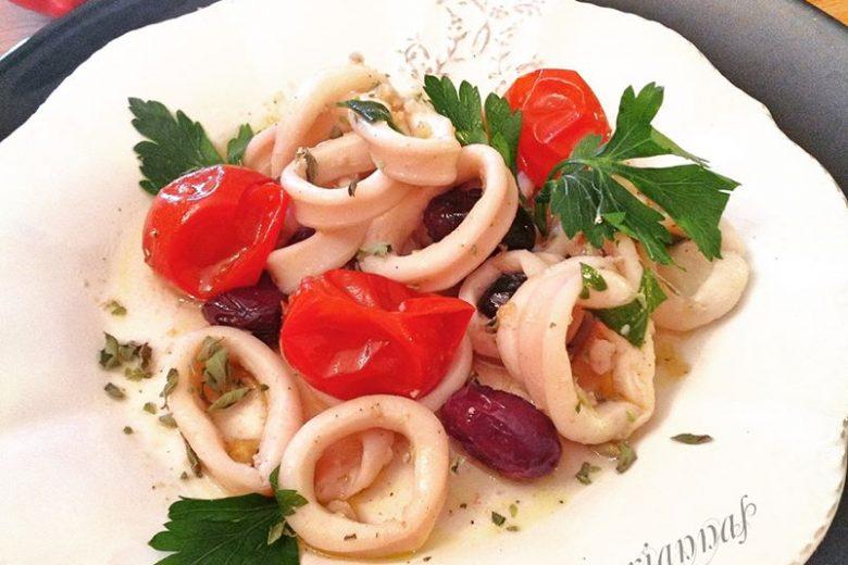 Ricetta calamari  in umido  in vasocottura